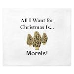 Christmas Morels King Duvet