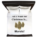 Christmas Morels King Duvet