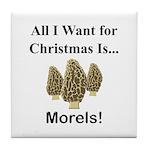 Christmas Morels Tile Coaster