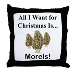 Christmas Morels Throw Pillow