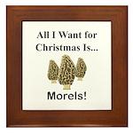 Christmas Morels Framed Tile