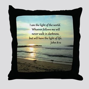 JOHN 8:12 Throw Pillow