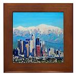 Downtown Los Angeles Framed Tile