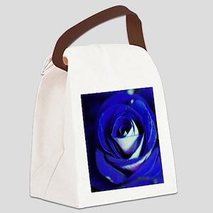 Blue Rose Canvas Lunch Bag