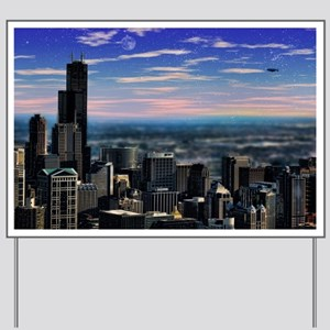Chicago Sunset Yard Sign