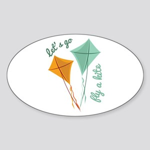 Lets Fly A Kite Sticker