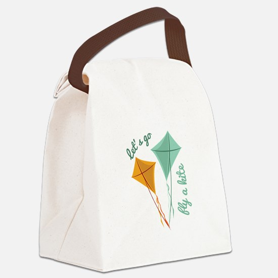 Lets Fly A Kite Canvas Lunch Bag