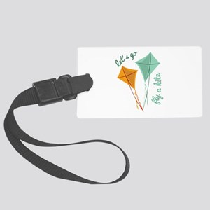 Lets Fly A Kite Luggage Tag