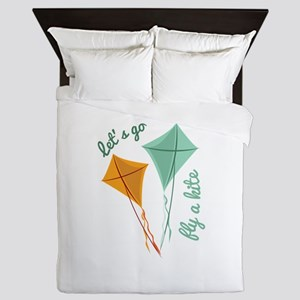 Lets Fly A Kite Queen Duvet