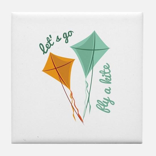 Lets Fly A Kite Tile Coaster