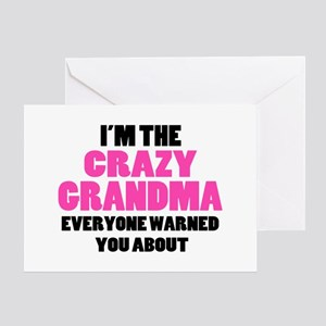 Crazy Grandma You Were Warned About Greeting Card
