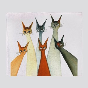 Seville Stray Cats Throw Blanket