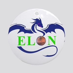ELON MARS DRAGON Ornament (Round)