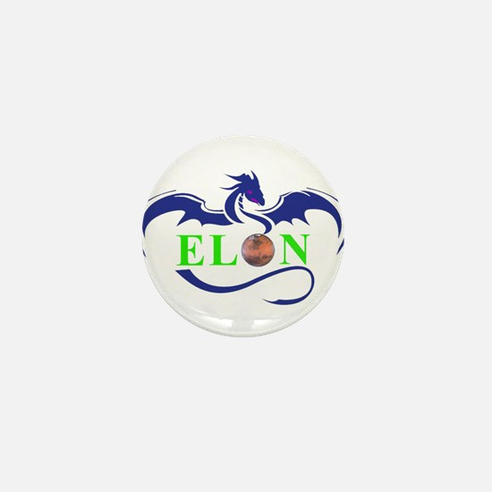 ELON MARS DRAGON Mini Button