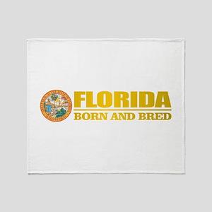 Florida Born & Bred Throw Blanket