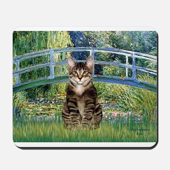 Bridge - Tabby Tiger cat 30.png Mousepad