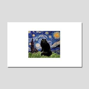 Starry Night /Persian (bl) Car Magnet 20 x 12