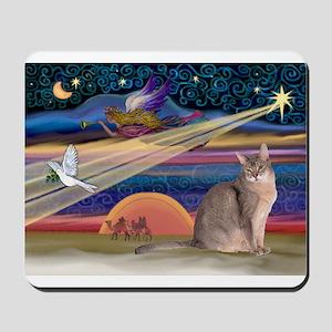 Xmas Star & Blue Abbysinian C Mousepad