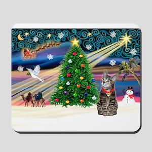 Xmas Magic & Tiger Cat Mousepad