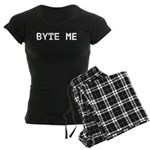 Byte Me Computer Joke Women's Dark Pajamas