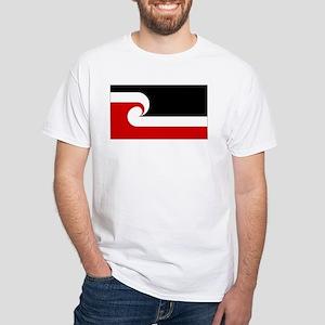 Maori Flag White T-Shirt
