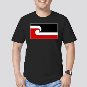 Maori Flag Men's Fitted T-Shirt (dark)