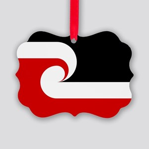 Maori Flag Picture Ornament
