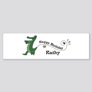 Happy Birthday Kathy (gator) Bumper Sticker