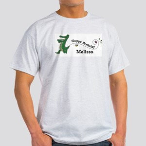 Happy Birthday Melissa (gator Light T-Shirt