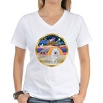 XmasStar/Am Eskimo #1 Women's V-Neck T-Shirt