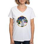 XmasMusic 3/Am Eskimo #3 Women's V-Neck T-Shirt