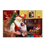 Santa's Aussie (#1) Postcards (Package of 8)