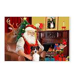 Santa's Tri Aussie (#7) Postcards (Package of 8)