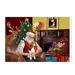 Santa's Beagle Postcards (Package of 8)