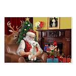 Santa's Bedlington Postcards (Package of 8)