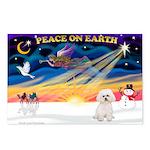 XmasSunrise/Bichon #2 Postcards (Package of 8)