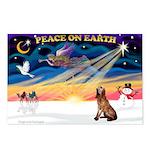 XmasSunrise/Bloodhound Postcards (Package of 8)