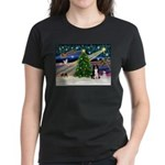 XmasMagic/ Border Collie Women's Dark T-Shirt
