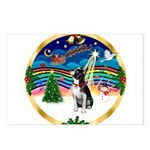 XmasMusic 3/Boston Terrier Postcards (Package of 8