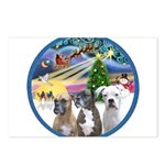 Xmas Magic / 3 Boxers Postcards (Package of 8)