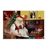Santa & His Brittany Postcards (Package of 8)