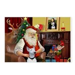 Santa's Bull Terrier Postcards (Package of 8)