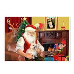 Santa's Cairn Terrier Postcards (Package of 8)