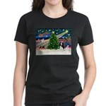 XmasMagic/Tri Cavalier Women's Dark T-Shirt