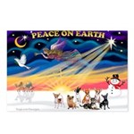 XmasSunrise/7 Chihuahuas Postcards (Package of 8)