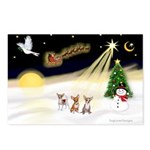 Night Flight/3 Chihuahuas Postcards (Package of 8)