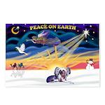 XmasSunrise-Chinese Crested 9ld Postcards (Package