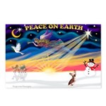 XmasSunrise/Chin Crested Postcards (Package of 8)
