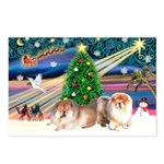 Xmas Magic & Chow Postcards (Package of 8)