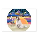 XmasAngel-ClumberSpaniel Postcards (Package of 8)